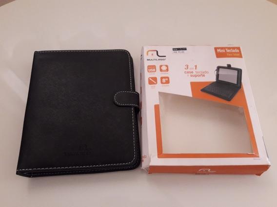 2 Capas Mini Teclado 3x1 Case Teclado/suporte/tablet/celular