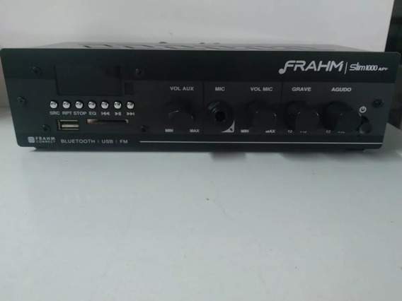 Amplificador P/ Som 40w Slim 1000 -frahm