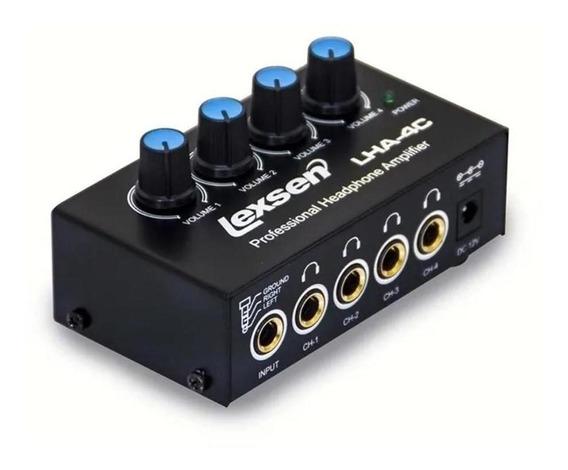 Amplificador Lexsen De Fone 4 Canais Lha4c