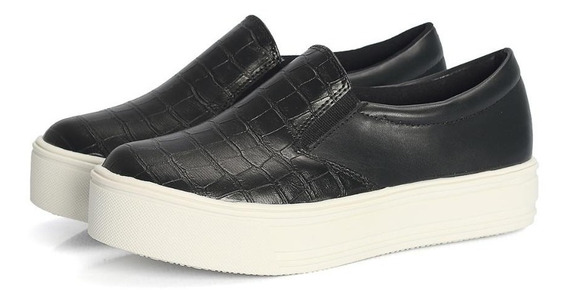 Tênis Slip On Croco Feminino Moderno Descolado Casual Chic
