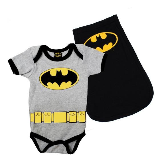 Pañalero Batman Clásico Logo Con Capa Original Disfraz Ropa Bebé 89230