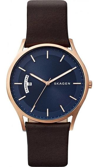 Relógio Skagen Masculino Ref: Skw6395/2an Slim Rosê
