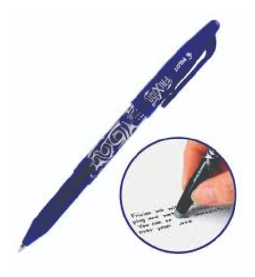 Caneta Escreve E Apaga Frixion 0,7mm Esferográfica Azul Pilo