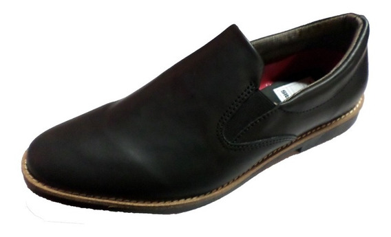 Zapato Punta Fina Sin Cordon Tipo Pancha Cuero (110)