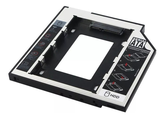 Adaptador Case Caddy 9.5mm Notebook Gaveta Dvd Ssd Hd Sata