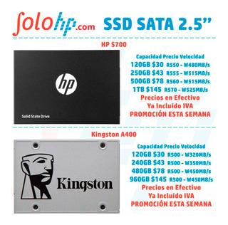 Unidad Ssd Interna 2.5 Laptop O Pc, Disco Sólido Hp Kingston