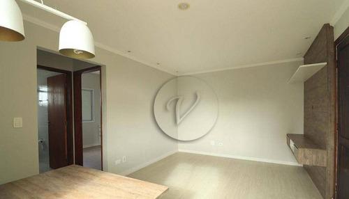 Imagem 1 de 20 de Apartamento Com 2 Dormitórios À Venda, 56 M² Por R$ 340.000,00 - Campestre - Santo André/sp - Ap10455
