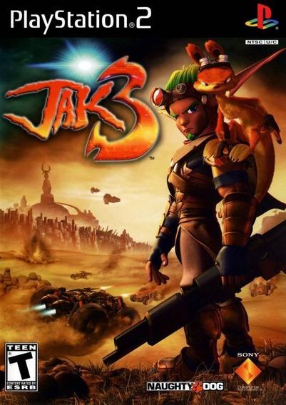 Jak 3 Ps2 Barato C/ Capa + Jogo Brinde Playstation 2 Escolha