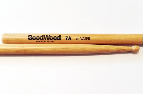 Palillos Baquetas Goodwood Hickory 7a Pta Madera Gw7aw Vater