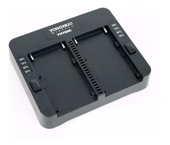 Carregador De Bateria Duplo Sony Yongnuo + Fonte+ 2 Baterias
