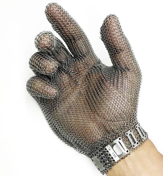 Luva De Aço Inox Anti-corte Para Açougueiro Com Ca - P M G