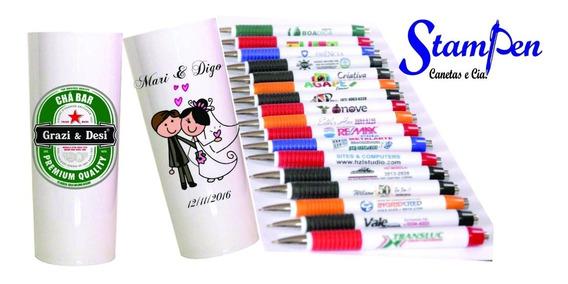 Stampen Kit Lembrancinha 50 Copos+50 Canetas Personalizadas