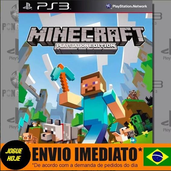 Ps3 Minecraft Edition Mídia Digital Português Jogue Hoje