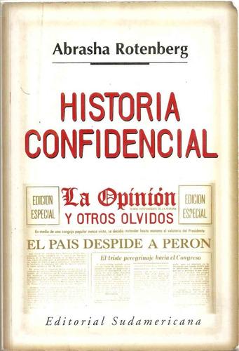 Historia Confidencial.abrasha Rotenbreg.