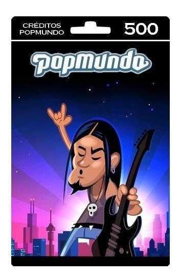 Créditos Popmundo (voucher 500 Créditos)