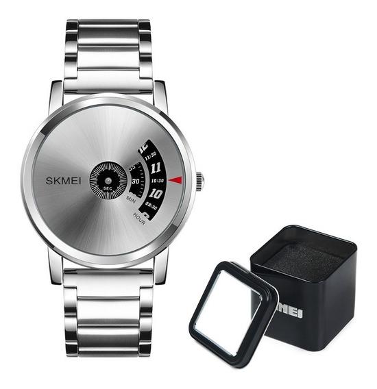 Reloj Skmei 1260 Con Caja Metálica Minimalista Elegante S