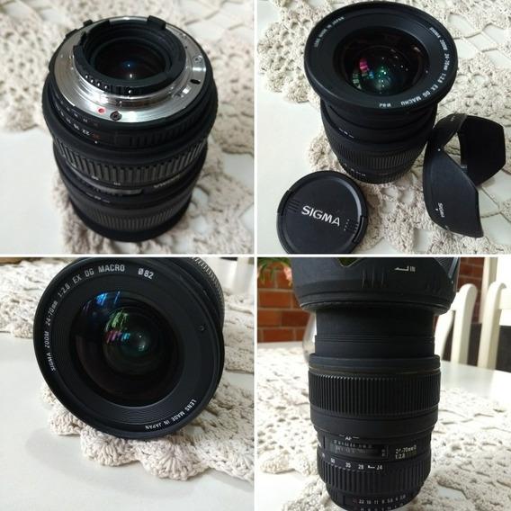 Lente Sigma 24-70mm F2.8 Ex Dg P/ Nikon Usada, Bem Cuidada.