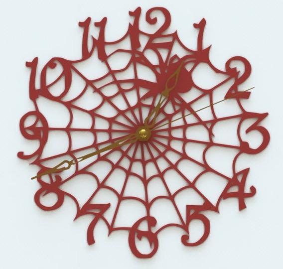 Reloj De Pared Telaraña Araña Spiderman Analógico 20cm