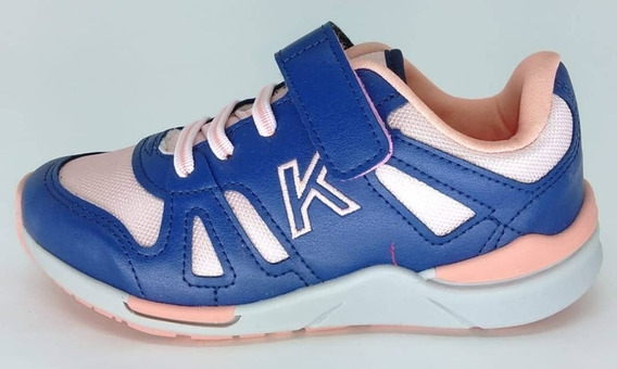 Tenis Kidy Style Menina 097-1162-7832 Marinho Nude Coral
