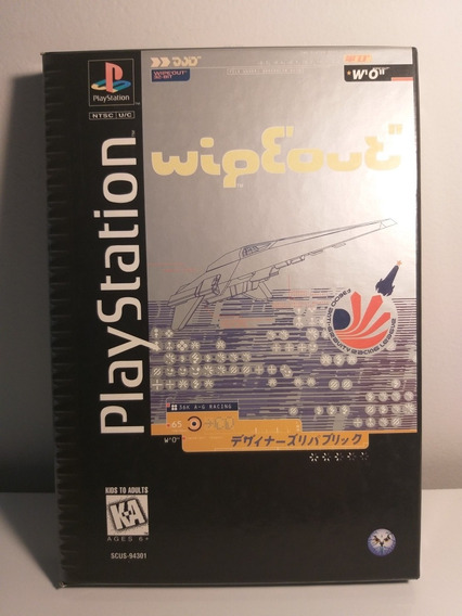 Wipeout Ps1 Original Longbox