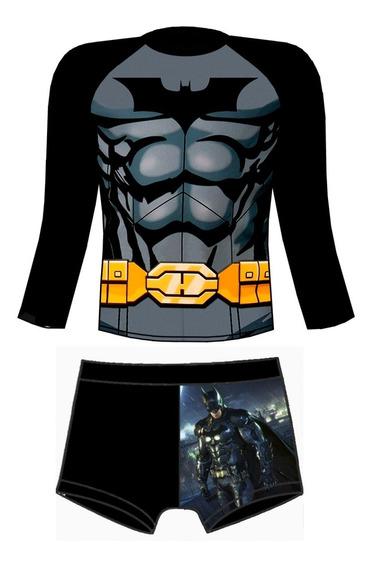 Traje De Baño Proteccion Uv Batman