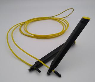 Corda De Pular Para Treino De Intensidade E Velocidade - Crossfit / Cabo De Aço Revestido Com 2 Rolamentos