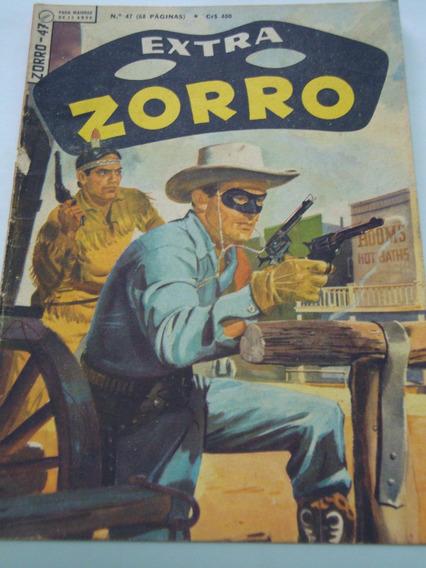 Zorro Nº 47 De 1966 Extra Ebal Gibi Raro Antigo Excelente