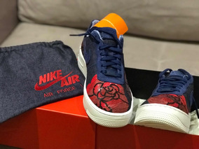 Tênis Nike Air Force One Upstep Denin Rose