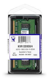 Memoria Ram Ddr3 4gb 1333mhz Kingston De Laptop Kvr13s9s8/4