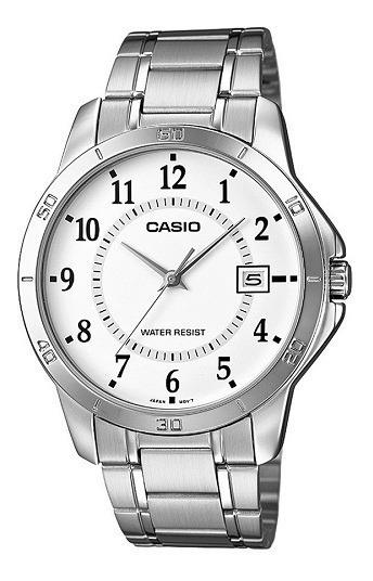 Relógio Casio Masculino Prata Mtp-v004d-7budf Original Nota Fiscal