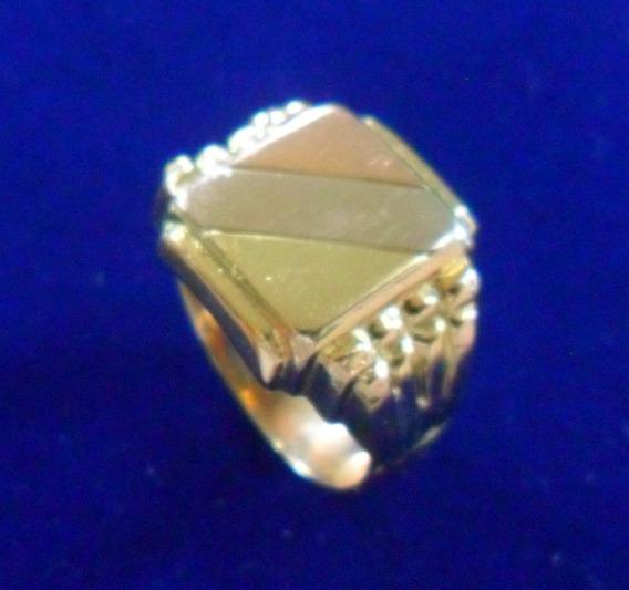 Anel Ouro 18k Tradicional Contrastado - Aro 18 Com 9.1 G !!!