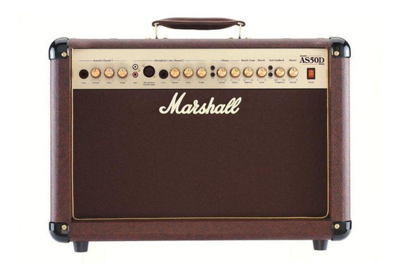 Amplificador Marshall Acoustic AS50D 50W transistor marrón