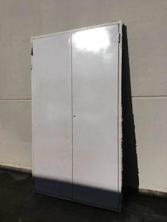 Puerta De Chapa 18 Gabinete Con Cerradura 200x118cm