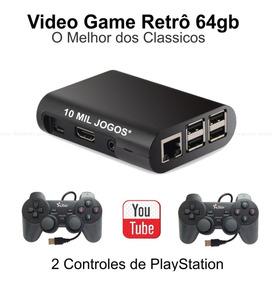 Video Game Retro 64gb C/ 8313 Jogos +2 Controles Envio Já