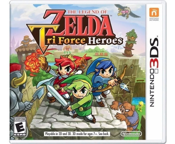 Jogo Novo The Legend Of Zelda Tri Force Heroes Nintendo 3ds