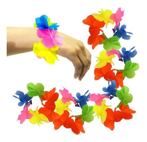 Pulsera Hawaiana X6 Multicolor - Big Party Cotillón