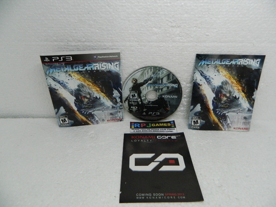 # Metal Gear Rising C/ Encarte E Manual Midia Fisica P/ Ps3
