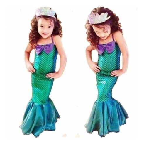 Fantasia Ariel / Sereia Cauda De Sereia Infantil