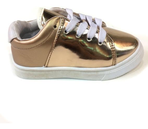 Zapatos Actitud Originales Para Niñas - Ac160708k - Gold