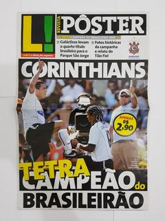 Revista Pôster Corinthians Tetra Campeão Brasileiro 2005