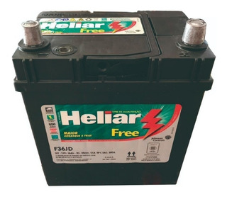 Bateria Heliar 12x36 36 Ah P/ Honda Fit City Atos Chery