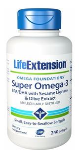 Super Omega-3 Epa/dha Life Extension 240 Cápsulas