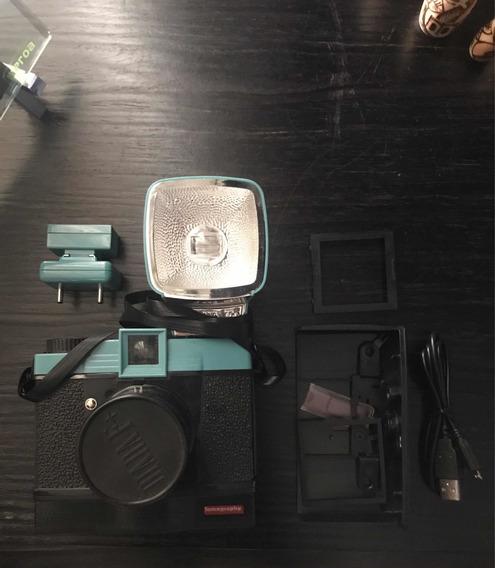Câmera Lomografica Diana F+, Com Flash. Mais Acessórios.