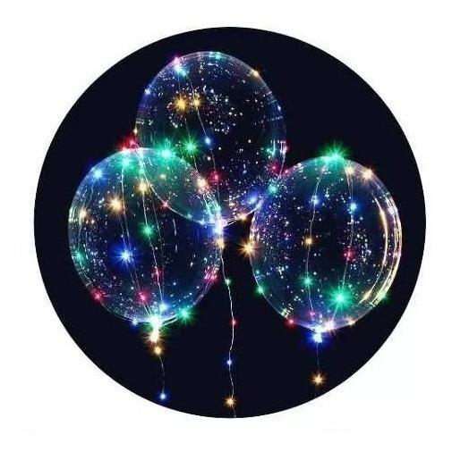 Globo Con Luz Led Multicolor Incluye Pilas