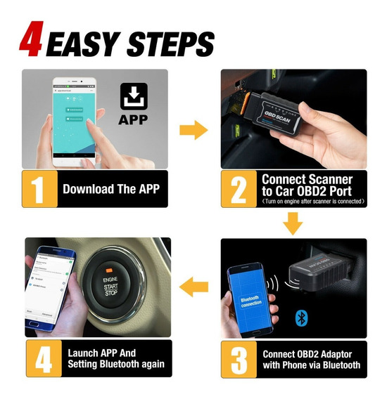 Scanner Automotivo Obd2 Bluetooth Celular Android - no