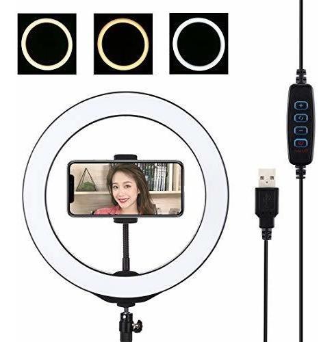 Puluz 6.2 Rr Selfie Luces De Video Con Luz De Anillo Led Con