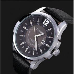 Relógio Curren 8123 Masculino Pulseira Couro Preto Caix Prat