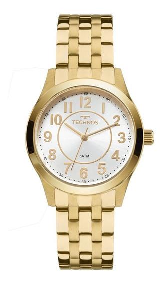Relógio Technos Feminino Dourado Original 2035mjd/4k