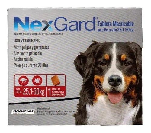 Nexgard 25-50kg. Elimina Pulgas Y Garrapatas.