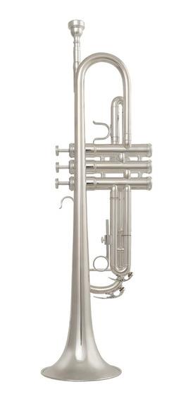 Trompete Custom Prata Premium Prateado Sib + Estojo ! Loja